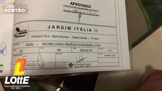 Terreno a venda no JARDIM ITÁLIA II em Sinop/MT