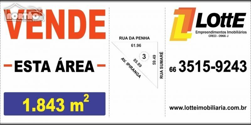 TERRENO a venda no JARDIM PAULISTA em Sinop/MT
