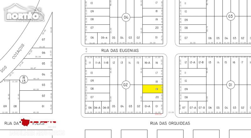 TERRENO a venda no JARDIM DAS ORQUIDEAS em Sinop/MT